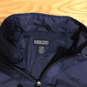 Land's End Navy Women's Warm-up Jacket